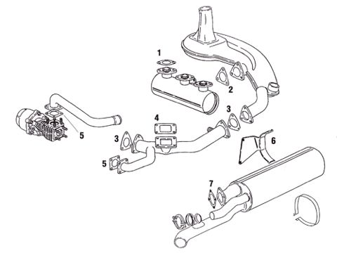 Porsche 911 930 Turbo 1976-1979 Heat Exchangers and Exhaust