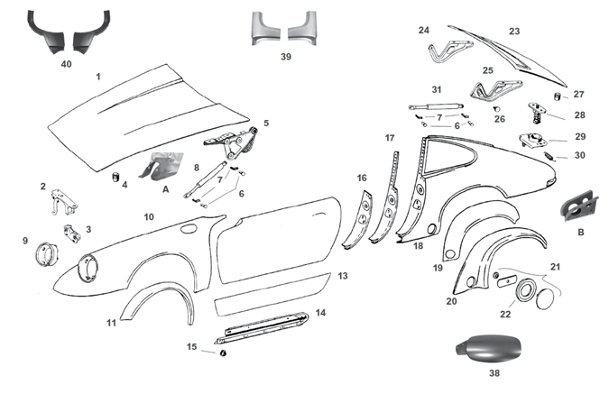 Porsche Parts: Exterior Body Sheet Metal Rust Repair Panels for 911 911SC and 930 Turbo. Fender