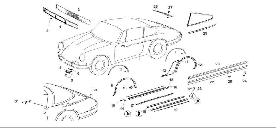 Porsche 911 Rocker Deco