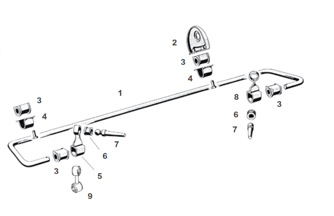 Porsche 911 Rear Suspension Anti-Roll Bar / Sway Bar