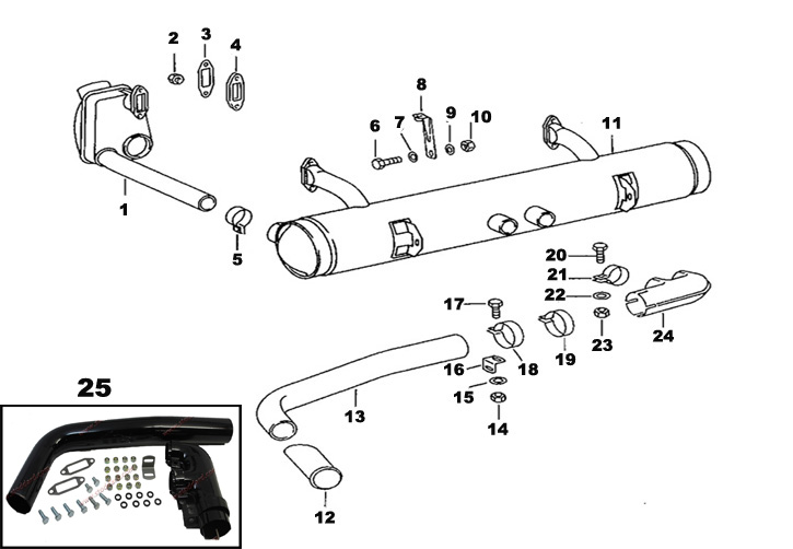 Porsche 912 Exhaust and Heating System including mufflers