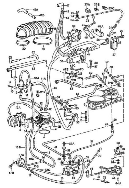 Porsche 911 911SC and 930 Turbo CIS Fuel Injection Components