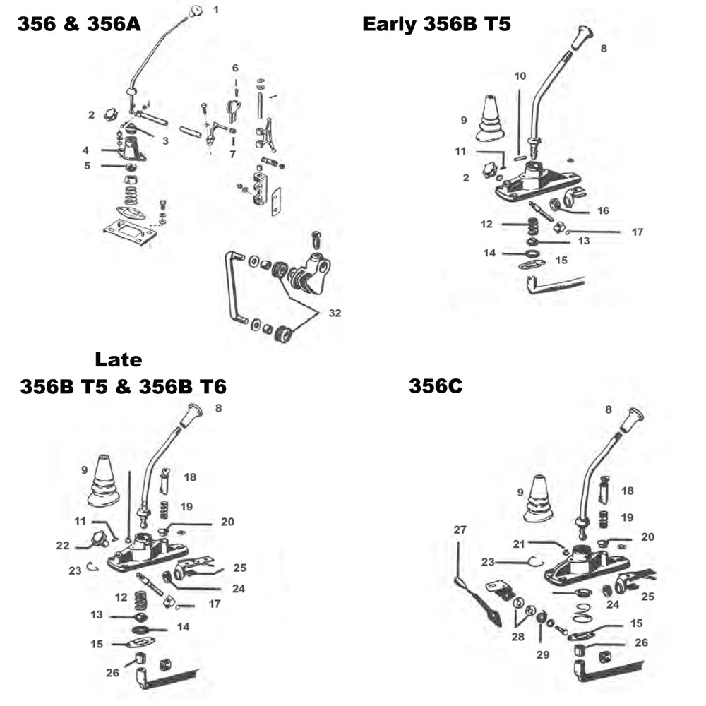 medium resolution of shift lever components
