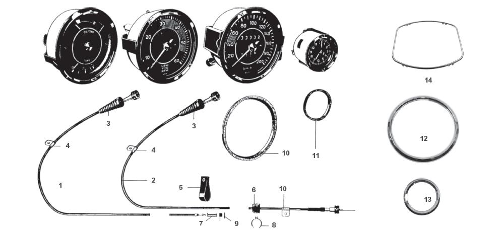 Porsche 356 Dash Gauges and Interior Electrical