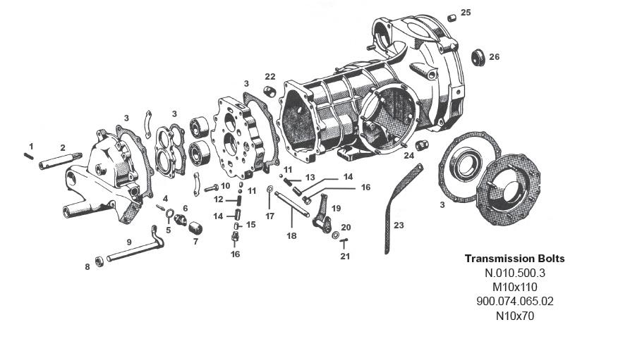 Porsche 356 External Transmission Parts