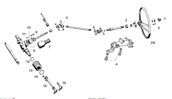 Porsche 912 Steering Wheel and Components