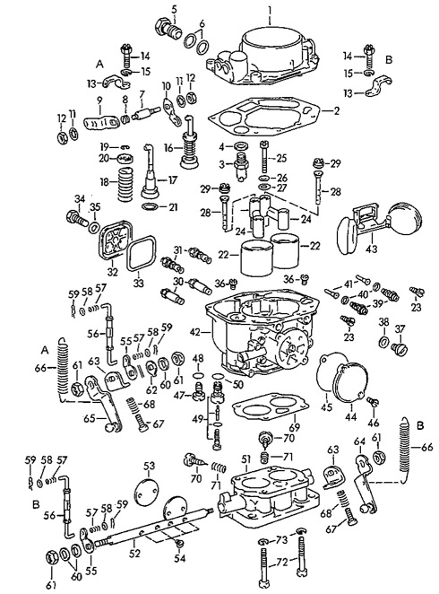 Porsche 356 Zenith 32 NDIX Carburetors