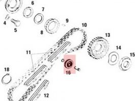 90110505500 Chain Tensioner Sprocket. Fits 911 964 1965