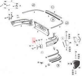 SIC50525121 Rear Bumper End Cap, Left Fits 911 912 90150525121