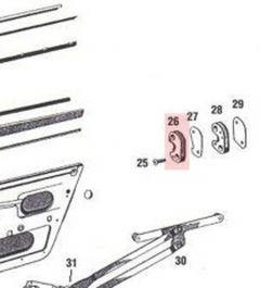 90153170121 Door Striker Plate, Left, Fits 911 912 1965