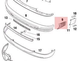 SIC50526700 Front Bumper Bellows, Left Fits 911 930