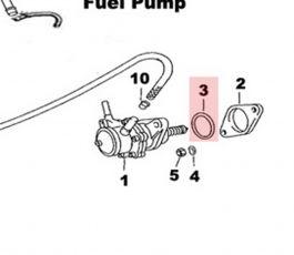 99970104350 All 356/912 O Ring at Fuel Pump Base