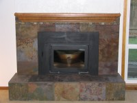 Pics For > Slate Fireplace Surrounds