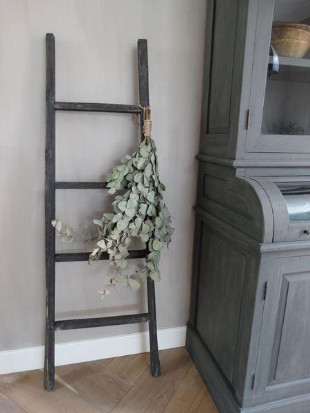 Landelijke houten ladder grijs Stoer  Stijlvol