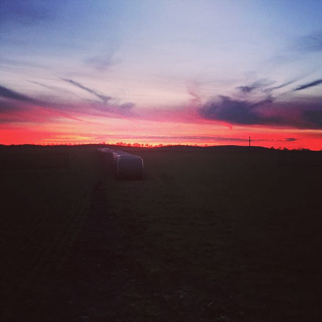 Ein farbenfroher #Sonnenuntergang