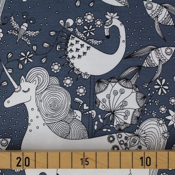 Fantastico Unicorn nightblue Biojersey