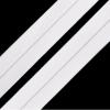 Faltgummi matt, Breite 20 mm, weiß