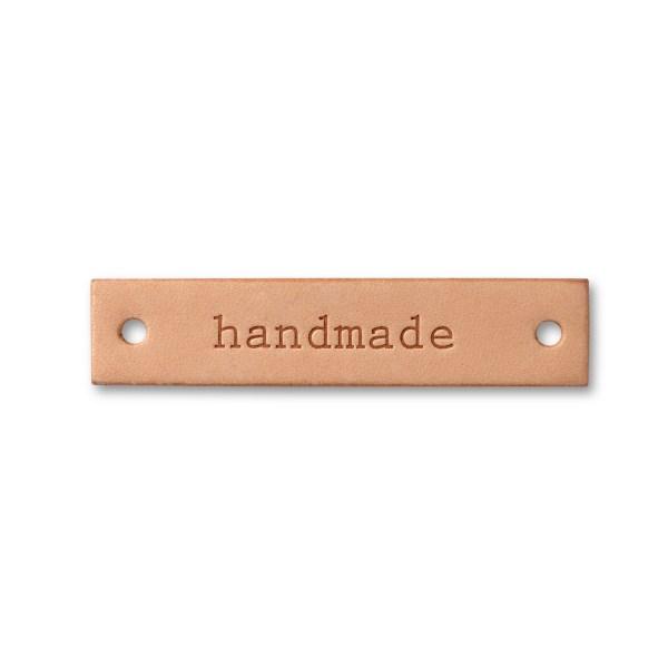 Prym handmade label Leder natur eckig