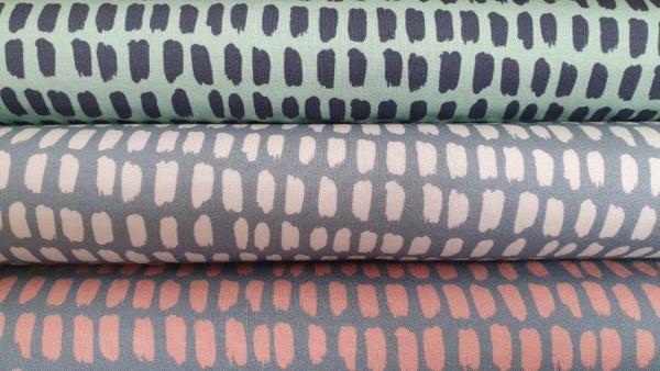 Modalsweat Lillestoff Stripe graublau-weiß