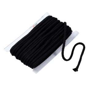Kordel, 10mm, schwarz