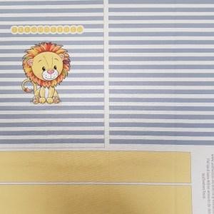 Nähset Tasche Freundebuch blau, Canvas Bio