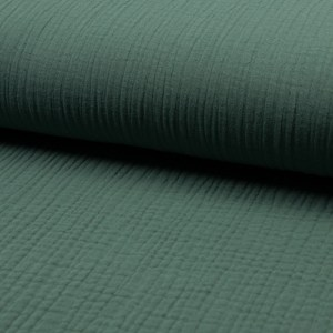 Musselin Uni Dusty Green