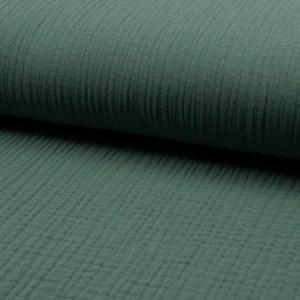 Musselin Uni Dusty Green