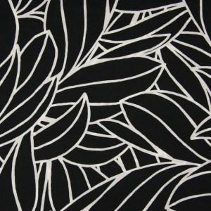 Viskose Schwarz Weiß Muster