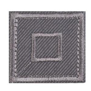 Patch zum Aufbügeln, Quadrat, hellbraun