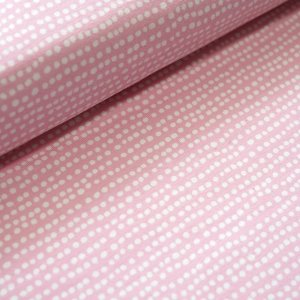 Stoffonkel Biojersey Dotted Line - rosa