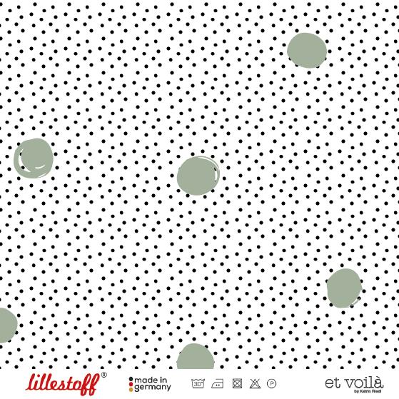 Lillestoff Waffel Dots, grau