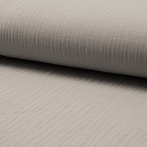 Musselin Uni Silver Grey