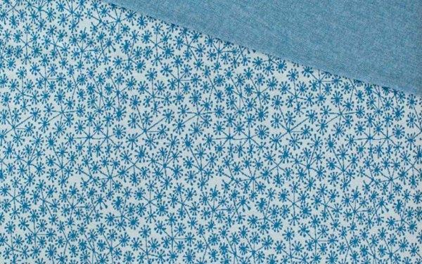 Pusteblumen hellblau/taubenblau Jacquard