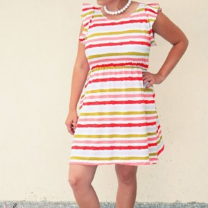 Sommerjersey Stripes, red
