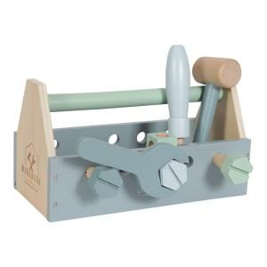 Stofftiger, Holzwerkbank, Werkbank, Werkzeug, Spielhammer, Spielschraubenzieher, Spielzeugwerkzeug, Werkzeug Kinder, Kinderspielzeug, Holzspielzeug, Little Dutch