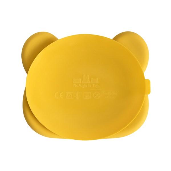 Stickie Plate Teller Bär gelb