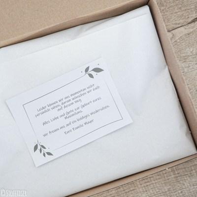 Grußkarte Geschenkeservice