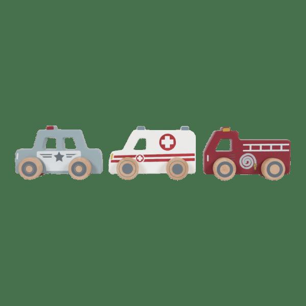 Einsatzfahrzeug, Polizei, Feuerwehr, Rettung, Holzspielzeug, Spielzeug, Regenbogen, Motorikspielzeug, Babyspielzeug, Little Dutch, Geschenke für Kinder, Babygeschenke,