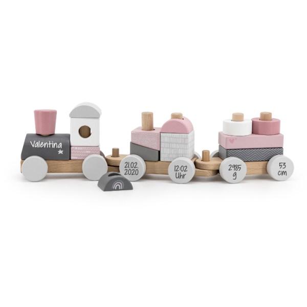 Holzzug, Holz Zug, Holzeisenbahn, Holz eisenbahn, Personalisierte Geschenke, Personalisiert, personalisiertes Spielzeug, Label Label, Stofftiger