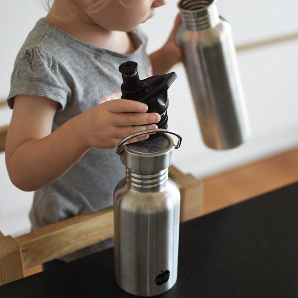 Trinkflasche, Lunchbox, Brotzeit, Jausenbox, Jause, Brotdose, Lunch, Box, Edelstahl, Kindergarten, Kindergartenjause, Schule, Schuljause, BPA frei, schadstofffrei