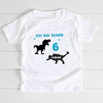 Babyshirt, Tshirt, Geburtstagshirt, Geburtstag, Erster Geburtstag, Zweiter Geburtstag, Dritter Geburtstag, Vierter Geburtstag, Fünfter Geburtstag, Sechster Geburtstag, Siebter Geburtstag, Achter Geburtstag, Geburtstags-T-Shirt, T-Shirt Kinder, Dinosaurier