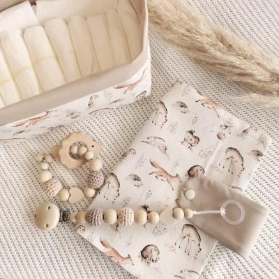 Geschenkkörbchen zum selbst zusammenstellen, Geschenkkorb Kinderwagenkette Schnullerkette Geburtsgeschenk Geschenkidee Geburt, geburtsgeschenk, geschenkidee, baby