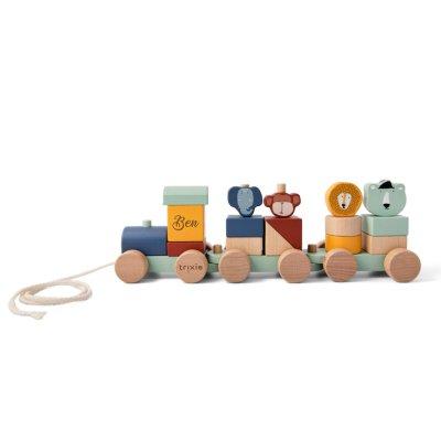 Holzzug, Holz Zug, Holzeisenbahn, Holz eisenbahn, Personalisierte Geschenke, Personalisiert, personalisiertes Spielzeug,Trixie, personalisiert,, Stofftiger