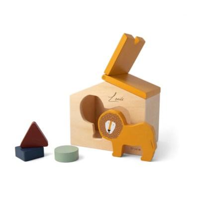 Steckspiel, Steckpuzzle, Holzhaus, motorik, formen, Holzspielzeug, Spielzeug, Regenbogen, Motorikspielzeug, Babyspielzeug, Little Dutch, Geschenke für Kinder, Babygeschenke,