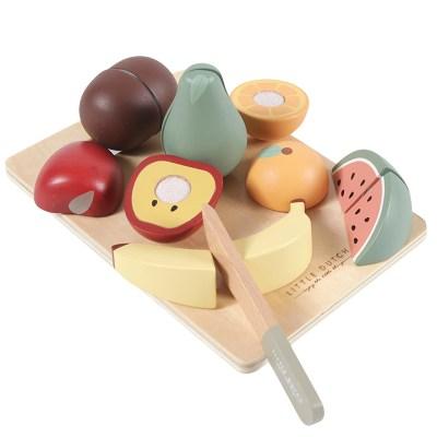 Holzobst, puppenküche, Holzspielzeug, Küche, Kinderküche, Küchenspielzeug, Spielzeug, Holzspielzeug, Holz, nachhaltiges Spielzeug, Niederländisches Label, skandinavisches Spielzeug, pastell, Geschenk,
