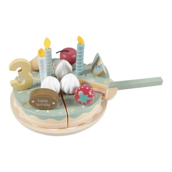 Little Dutch Geburtstagstorte, Geburtstag, Spielzeug, Holzspielzeug