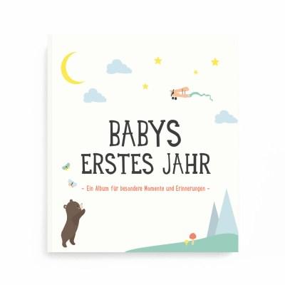 Milestone Album, Babys erstes Jahr, Babyalbum, Erinnerungen, Erinnerungsalbum, First Year, Baby, Geburtsgeschenk. Geschenk zur Geburt, Geschenk zur Taufe, Geschenkidee, Fotoalbum