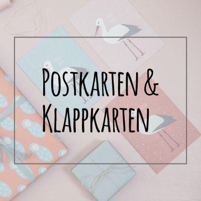 Postkarten und Klappkarten