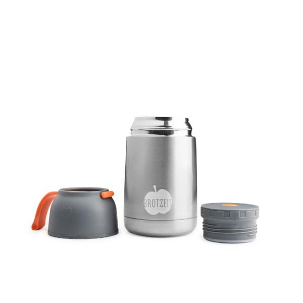 Thermobehälter, Dose, EssensboxBrotzeit, Stofftiger, Trinkflasche, Flasche, Edelstahl, Plastikfrei, BPA frei, schadstofffrei, Edelstahl, Metall