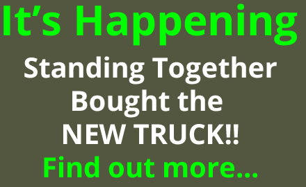 It is happening Standing Together bought the new truck. Found out more